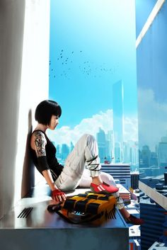 Mirror's Edge, a single player fp action-adventure game developed by EA Digital Illusions CE. Mirror Edge is set in a futuristic dystopian society and has a women main character named Faith. This game received positive reviews from most critics and is seen as a game that has a lot more actions the other games like Mirror's Edge.