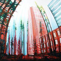 Makingwaves Toronto based artist Amy Shackleton has exhibited paintings in New York, London, Toronto, Montreal and Calgary. Shackleton's work was recently Drip Painting, Drip Art, Modern Metropolis, Urban Landscape, Art Blog, Artsy Fartsy, Art Lessons, Amazing Art, Cool Art