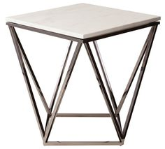 Jasmine   HGTB173 polished stainless steel white marble top $270.00 US ea.