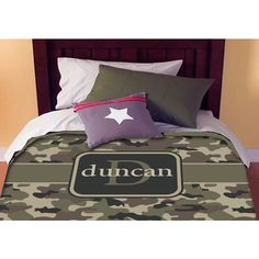 Labor Day Camo Personalized Custom Bedding Duvet Cover Full-Queen Size... ($129) ❤ liked on Polyvore featuring home, bed & bath, bedding, duvet covers, black, home & living, black bedding, camo bedding, personalized bedding and queen bedding