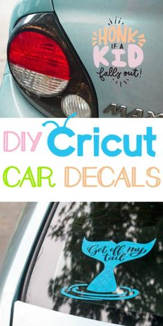 [orginial_title] – Damask Love: Craft is in session! DIY Cricut Car Decals – A Little Craft In Your Day Ordering custom decals can get expensive, but now you can make them yourself. Learn how to make your own DIY Cricut Car Decals easily. Wine Bottle Crafts, Mason Jar Crafts, Mason Jar Diy, Cricut Ideas, Cricut Tutorials, Do It Yourself Jewelry, Do It Yourself Home, Diy Auto, Diy Car