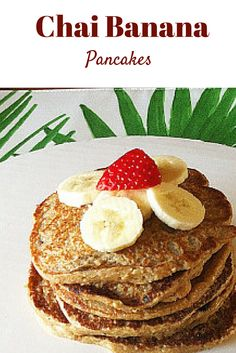 In the mood for pancakes? Try these #healthy Chai-banana bread pancakes for a #glutenfree breakfast! #vegan