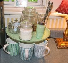 24 Whimsical Ways to Use Vintage China and Silver - cake stand coffee station