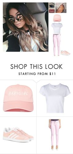 """""""amber looking for a man"""" by dean-ambroses-babe ❤ liked on Polyvore featuring RE/DONE, adidas Originals and DL1961 Premium Denim"""