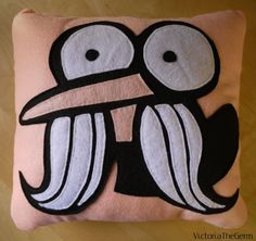 The Regular Show Pops Maellard Felt Pillow. $45.00, via Etsy.  This is just too awesome.