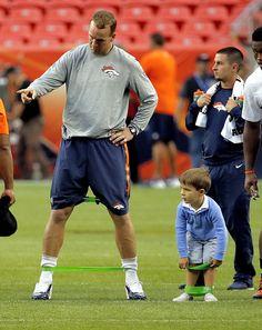 Just like my dad, Peyton Manning!