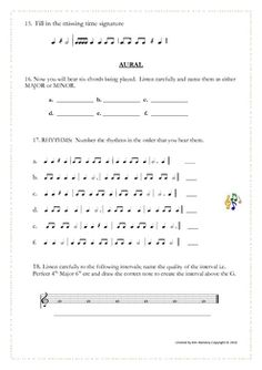MUSIC: Theory and Aural Quiz $
