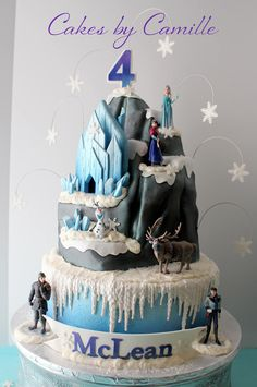 Disney Frozen North Mountain Cake, Elsa Cake, Frozen birthday cake, Cakes by Camille, LLC