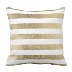 Trendy trendy fashionable fake gold foil stripes throw pillow. >>> Take a look at even more at the picture link