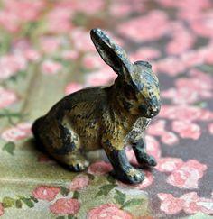Antique tin rabbit