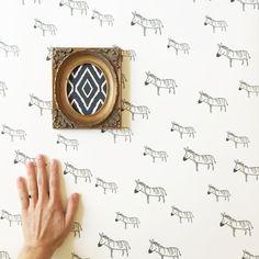 Removable Wallpaper // Zebra Print // Assorted lengths //