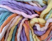 Super bulky yarn, self striping yarn, pastel yarn, super chunky yarn,  merino yarn, super fat yarn, pastels merino yarn, 500g, 116m, 127 yd