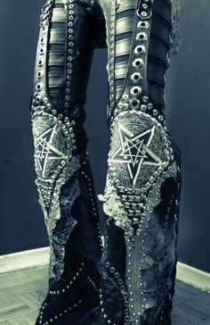 Spending the rest of the weekend working on Dimmu Borgir gear! Here's a little teaser of some custom Toxic Vision pants made for Shagrath..