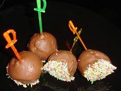 Υπέροχα Σοκολατάκια για Παιδικά Πάρτυ Caramel Apples, Sweets, Candy, Cooking, Birthday, Desserts, Food, Kitchens, Kitchen