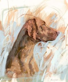 54 Oil Painting With Dog Drawing Ideas - Art Vizsla, Weimaraner, Animal Painter, Watercolor Animals, Dog Portraits, Animal Paintings, Dog Art, Art Pictures, Painting Inspiration