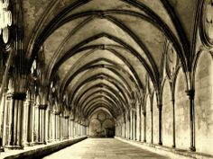 Salisbury Arches Stretched Canvas Print by Judith Bartos at Art.com