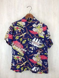 """SUN SURF"" ALOHA SHIRT 2010-COLLECTION 「SOUTH SEA TRADER」 a 'Keoni of Hawaii' John Meigs design  #hawaiishirt #toyo #sunsurf #rayon #AlohaShirt #HawaiianShirt #vintage #50s"