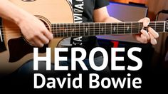 Heroes - David Bowie Guitar chords cover on guitar ( How to play )