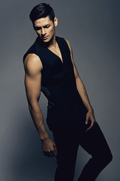Hideo Muraoka-those armsssss!! The vest alone is eh tho
