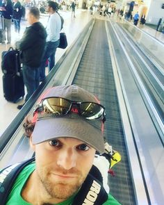 You see it as a moving walkway, I see it as a group treadmill!! #WoodlandDoesIndy #airportworkouts