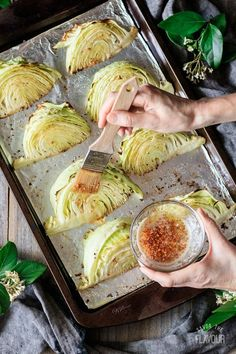 Roasted Cabbage Wedges with Lemon Garlic Butter: an easy, healthy side dish you can serve for a low carb dinner. Simply use fresh green cabbage, garlic, lemon and butter. Enjoy the health benefits of this quick vegetarian recipe that can be roasted in the oven on one tray. | www.savortheflavour.com #stpatricksday #cabbage ●FOR GO THE OIL AND BUTTER. Melt a little coconut oil to in place of the two. Making for a much healthier version!