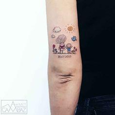 Tattoo artist Ahmet Cambaz light authors minialistic tattoo | Istanbul, Turkey