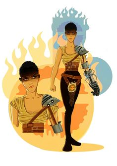 Character study for Imperator Furiosa Imperator Furiosa, Mad Max Fury Road, Geek Out, Zombie Apocalypse, Best Self, Lotr, Nerdy, Fangirl, Concept Art