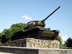 T-34-85 Tank Monument, Tiraspol, Transnistria.