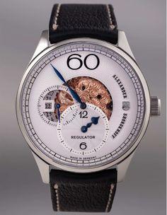 Alexander Shorokhoff Uhrenmanufaktur: Regulator Halbskeleton (R02)