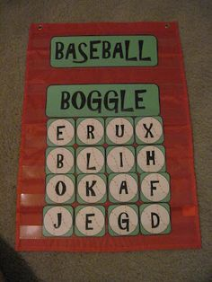 Fifth Grade Dugout: Baseball Boggle