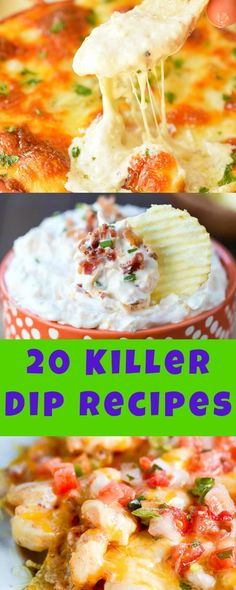 20 of The Most AMAZING Dipe Recipes perfect for tailgaiting, game day, or parties!
