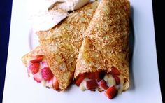 Strawberry and Coconut Pancakes