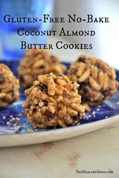 Gluten-Free No-Bake Coconut Almond Butter Cookies, yum