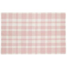 The Land of Nod | Kids Rugs: Pink Pastel Gingham Rug in Cotton Rugs,  8 x10, $299. Good for rental house
