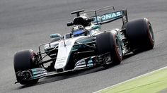 Mercedes AMG Petronas F1 Team's Finnish driver Valtteri Bottas drives at the Circuit de Catalunya on March 1, 2017 in Montmelo on the outskirts of Barcelona during the third day of the first week of tests for the Formula One Grand Prix season.  / AFP / JOSE JORDAN