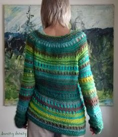 swetry doroty: Jan Szkaradek - Could also be done in crochet I guess. Love the colours here. Knitting Stitches, Hand Knitting, Knitting Patterns, Laine Rowan, Love Sewing, Fair Isle Knitting, Knitted Hats, Knitwear, Knit Crochet