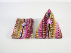 Ravelry: Pyramid Pouch pattern by Frankie Brown
