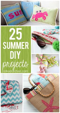 DIY+Summer+Projects | 25 Summer DIY Projects, the Polka Dot Chair Blog