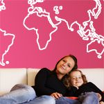 Vinilos decorativos con el Mapa del mundo en línea