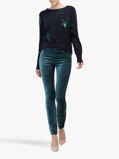 Buy Paige Hoxton Velvet Ultra Skinny Jeans, Atlantic Navy from our Women's Jeans range at John Lewis & Partners. Navy Tops, Fitness Models, Personal Style, Skinny Jeans, Velvet, Casual, How To Wear, Fashion, Moda