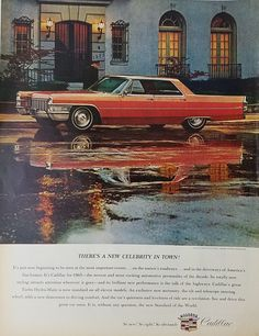 1965 Cadillac Sedan DeVille Vintage Ad - There's a New Celebrity in Town
