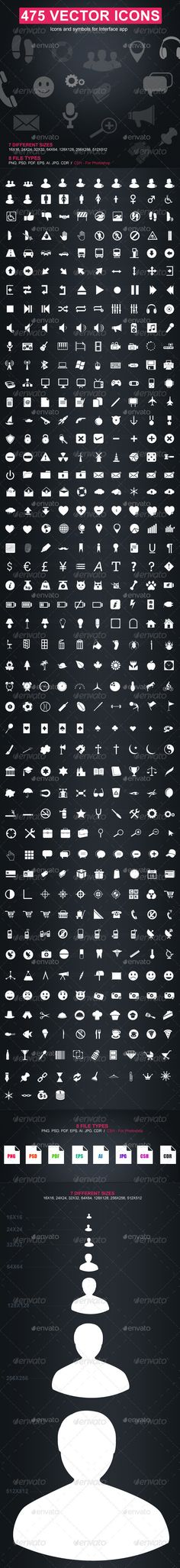 475 Vector Icons - Web Icons