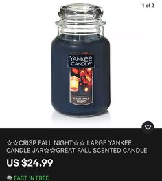 Big Candles, Candles For Sale, Prices Candles, Yankee Candle Jars, Candle Store, Fall Scents, Christmas Delivery, Scented Candles, Wax