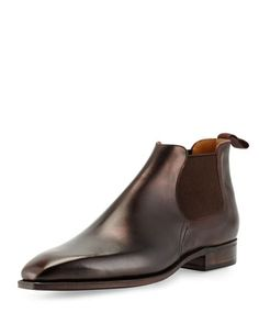 Bella Dress Leather Chelsea Boot  by Corthay at Neiman Marcus.