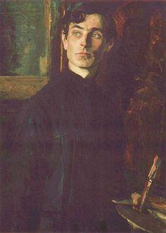 Portrait of Pavel Korin by Mikhail Nesterov