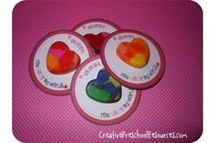 You Color my World Heart Crayon Valentine {with free download}
