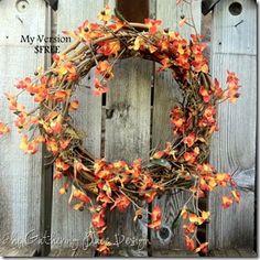Rustic---Fall wreath--love it.
