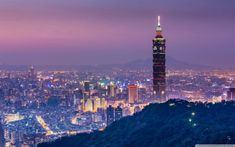 Where to go in Taipei? — 14 Top places to visit in Taipei & Best places to visit in Taipei - Living + Nomads – Travel tips, Guides, News & Information! World Wallpaper, View Wallpaper, 1080p Wallpaper, Wallpapers, Building Painting, Top Place, City Buildings, Beautiful Sky, Paris Travel