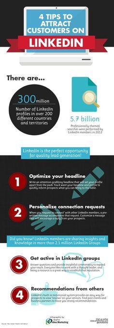 4 consejos para atraer clientes en Linkedin #socialmedia #RedesSociales
