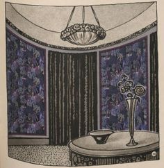 Le papier peint: ses differents employs, 1920. Trade Catalogs. The Metropolitan Museum of Art, New York. Thomas J. Watson Library. (b18345499) | This 1920 wallpaper catalog makes decorating your imaginary dream house very easy indeed. #wallpaper #artdeco